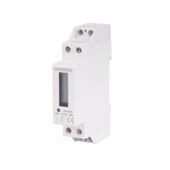NEW Single Phase Din Rail KWH Meter-1