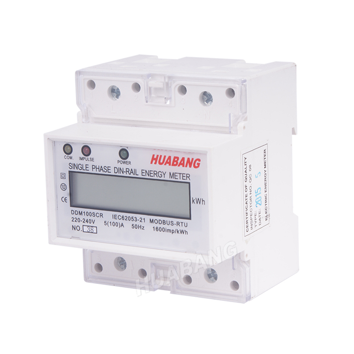 Single Phase RS485 Din Rail KWH Meter​-1