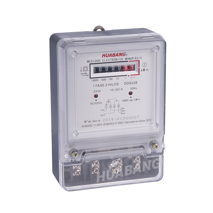 Single Phase 5+2 counter Energy Meter -1