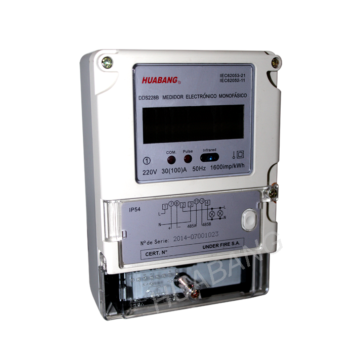 DDS228R Remote Control via RS485 single phase kwh meter -1