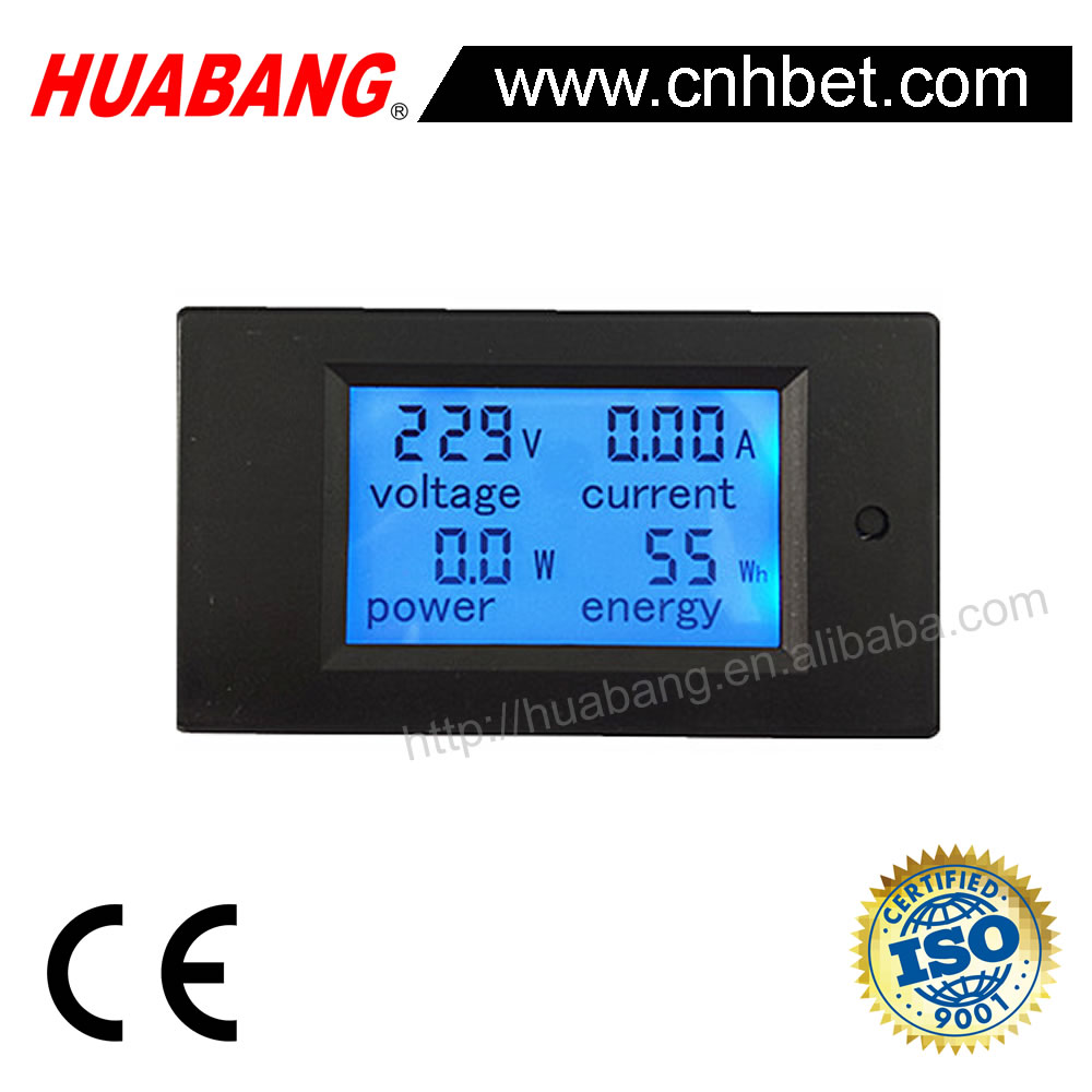 AC 3 1/2 LCD Digital Panel Multi Function Meter-1