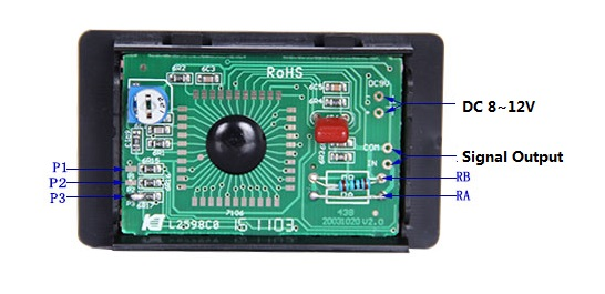 DC PM438 3 1/2 LCD Digital Panel Voltage Meter-2